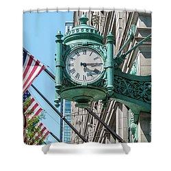 Marshall Field's Clock Shower Curtain