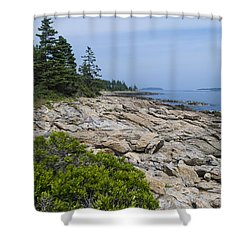 Marshall Ledge Looking Downeast Shower Curtain