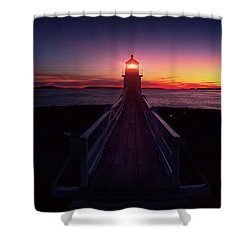 Marshall Point Light  Shower Curtain