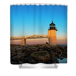 Marshall Point Lighthouse Shower Curtain by Diane Diederich