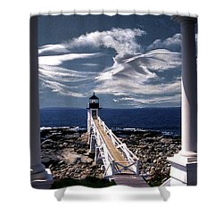 Marshall Point Lighthouse Maine Shower Curtain
