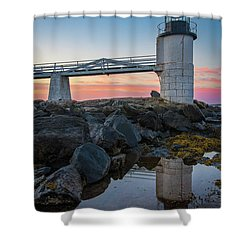 Marshall Point Reflection At Sunrise Shower Curtain