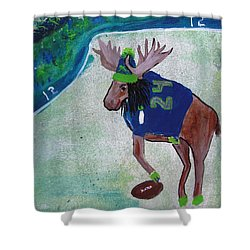 Marshawn Moose Shower Curtain