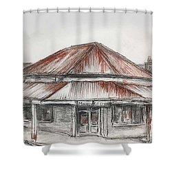 Marsh's Corner Store Shower Curtain