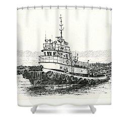 Martha Foss Log Assist Shower Curtain by James Williamson