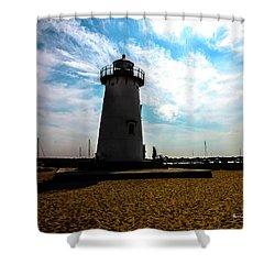 Shower Curtain featuring the photograph Martha's Vineyard Lighthouse - Massachusetts by Madeline Ellis