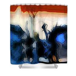 Martian Riding His Horse Shower Curtain