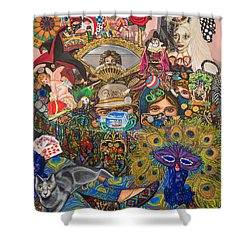 Martigras Masquerade Shower Curtain