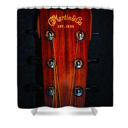Martin And Co. Headstock Shower Curtain
