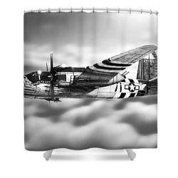 Martin B-26 Marauder Drawing Shower Curtain by Douglas Castleman