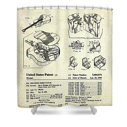 Martin Guitar Patent Art Shower Curtain
