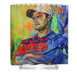 Martin Kaymer Shower Curtain by Koro Arandia