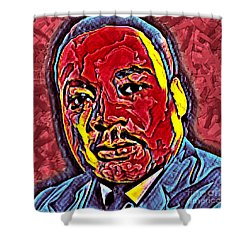 Martin Luther King Jr. Portrait Shower Curtain