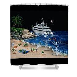 Martini Cove La Jolla Shower Curtain