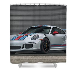 Shower Curtain featuring the photograph #martini #porsche 911 #gt3rs #print by ItzKirb Photography
