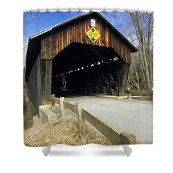 Martinsville Covered Bridge- Hartland Vermont Usa Shower Curtain by Erin Paul Donovan