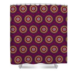Martix Design 002 A Shower Curtain by Larry Capra