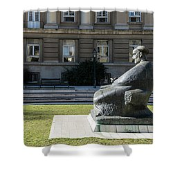 Marulic Square Zagreb  Shower Curtain