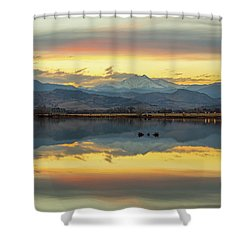 Shower Curtain featuring the photograph Marvelous Mccall Lake Reflections by James BO Insogna