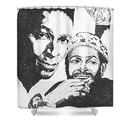 Marvin Gaye Tribute Shower Curtain