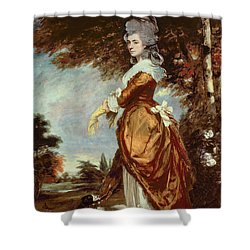 Mary Amelia First Marchioness Of Salisbury Shower Curtain by Sir Joshua Reynolds