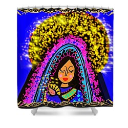 Crowned Mary And Baby Jesus Shower Curtain