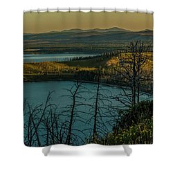 Mary Bay At Dawn Shower Curtain by Yeates Photography