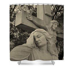 Mary Magdalene At The Crucifixion Shower Curtain