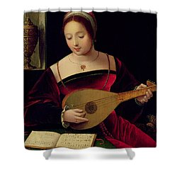 Mary Magdalene Playing The Lute Shower Curtain