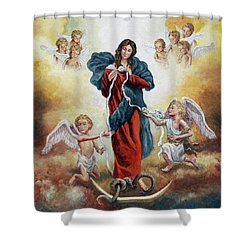 Mary Untier Of Knots Shower Curtain