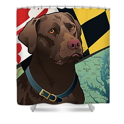 Maryland Chocolate Lab Shower Curtain