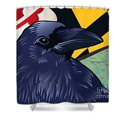 Maryland Citizen Raven Shower Curtain