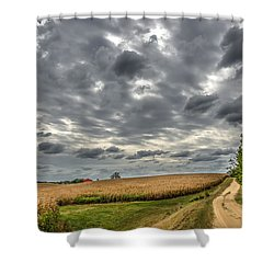 Maryland Country Road In Autumn At Twilight Shower Curtain