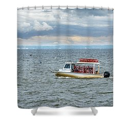 Maryland Crab Boat Fishing On The Chesapeake Bay Shower Curtain
