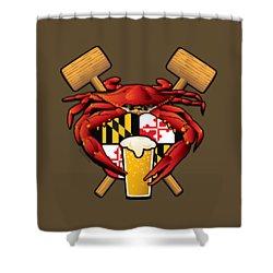 Maryland Crab Feast Crest Shower Curtain