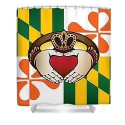 Maryland Irish Claddagh Art Shower Curtain