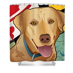 Maryland Yellow Lab Shower Curtain