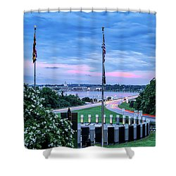 Maryland World War II Memorial Shower Curtain