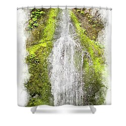 Marymere Falls Wc Shower Curtain by Peter J Sucy
