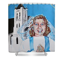 Mary's First Communion Shower Curtain