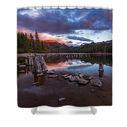 Mary's Reflection Shower Curtain