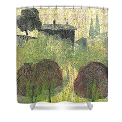 Shower Curtain featuring the painting Mas En Provence by Martin Stankewitz