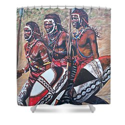 Masaai Warriors Shower Curtain