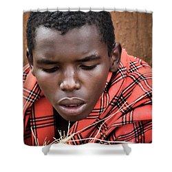 Shower Curtain featuring the photograph Masai Firemaker by Karen Lewis
