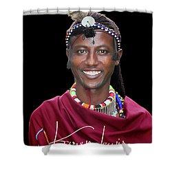 Shower Curtain featuring the photograph Masai Warrior by Karen Lewis