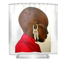 Masai Woman - Original Artwork Shower Curtain