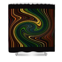 Masculine Waves Shower Curtain