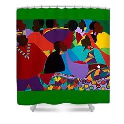 Masekelas Marketplace Congo Shower Curtain