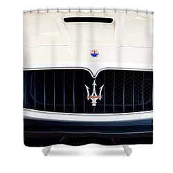 Maserati White Pano 121715 Shower Curtain