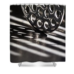 Masher Shadows Shower Curtain